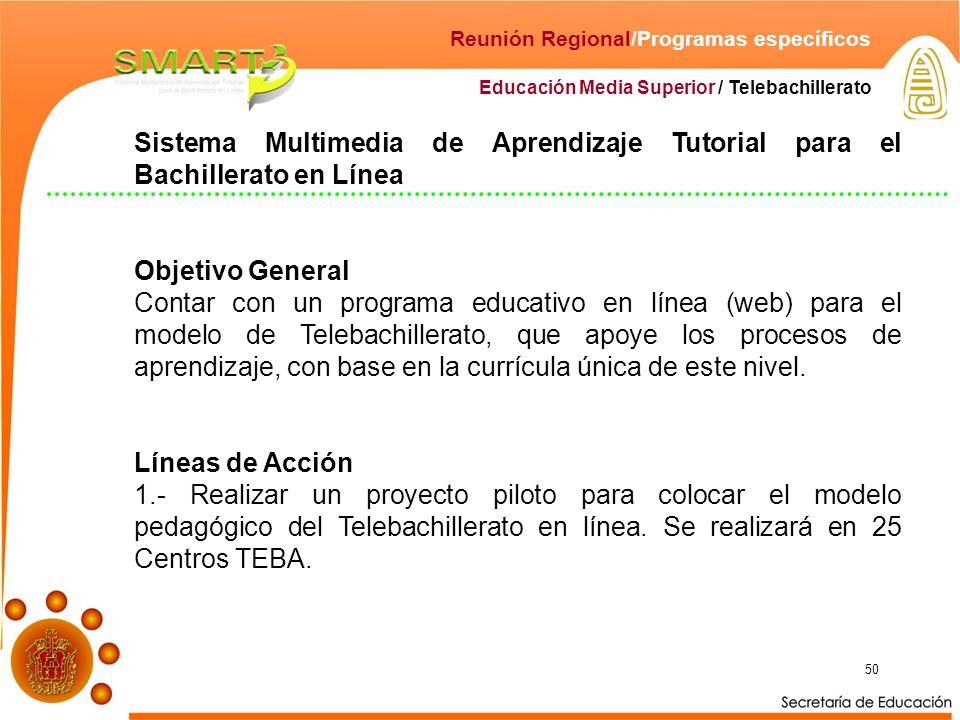 Reunión Regional/Programas específicos