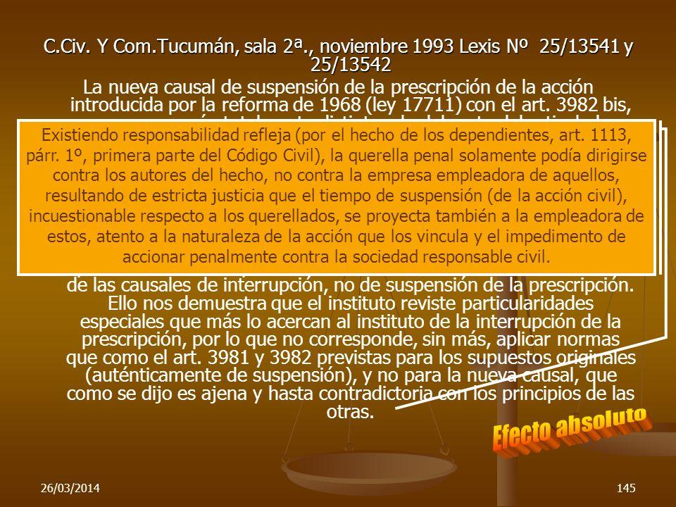 C. Civ. Y Com. Tucumán, sala 2ª