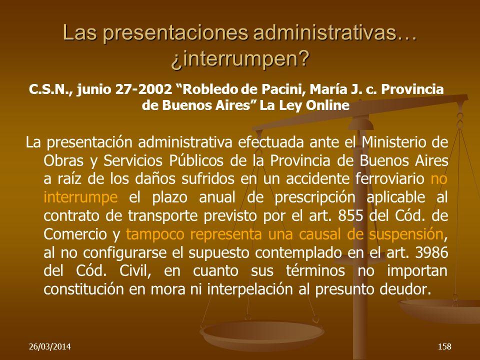 Las presentaciones administrativas… ¿interrumpen
