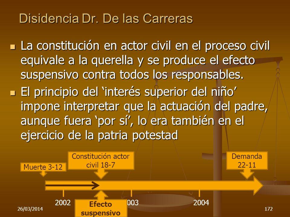 Disidencia Dr. De las Carreras