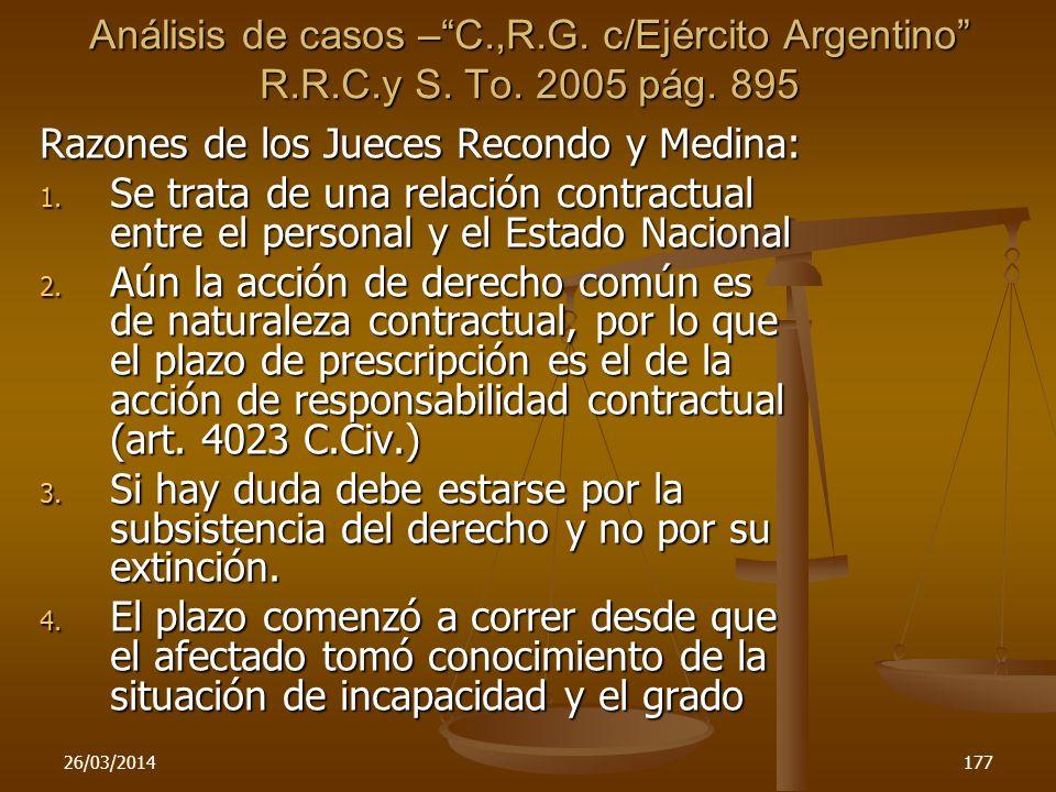 Razones de los Jueces Recondo y Medina: