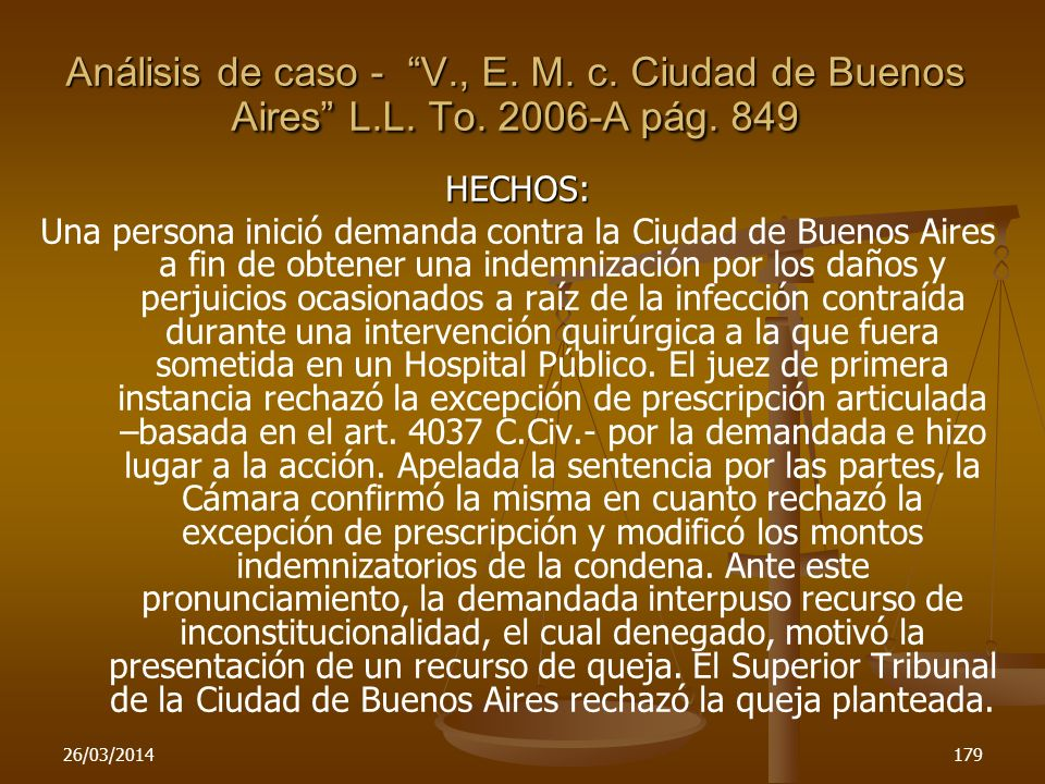 Análisis de caso - V. , E. M. c. Ciudad de Buenos Aires L. L. To
