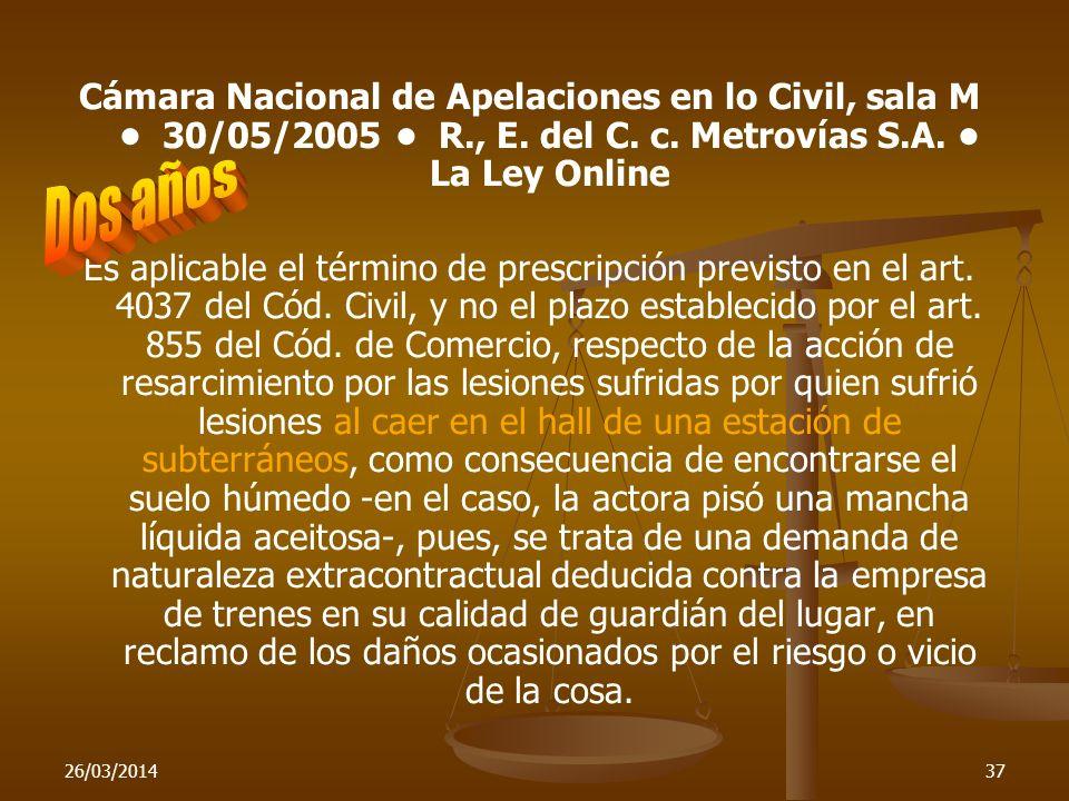 Cámara Nacional de Apelaciones en lo Civil, sala M • 30/05/2005 • R