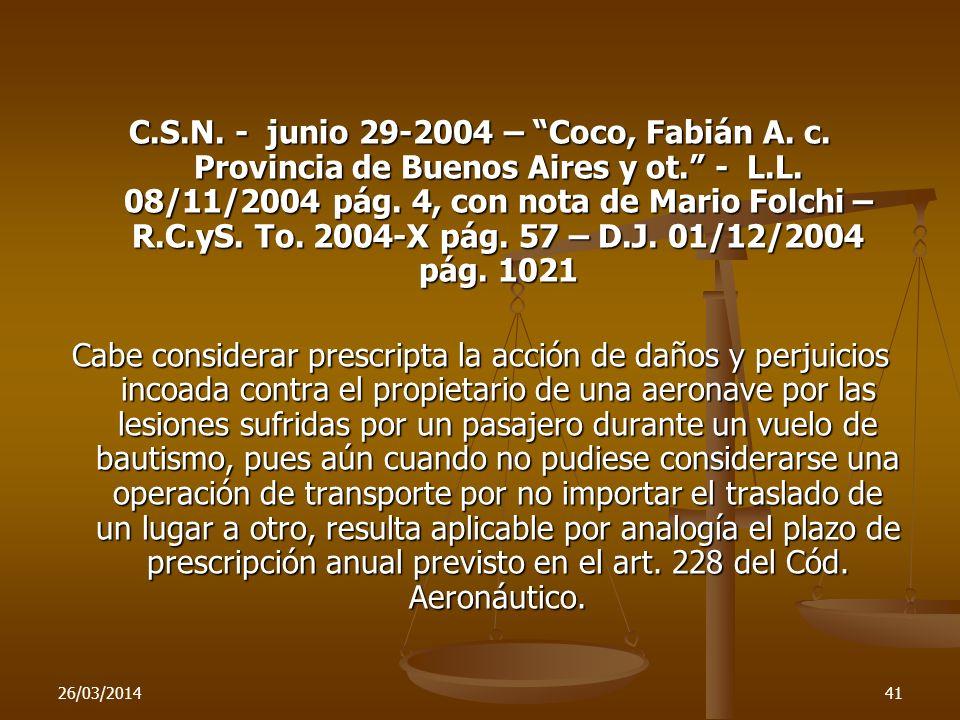C. S. N. - junio 29-2004 – Coco, Fabián A. c