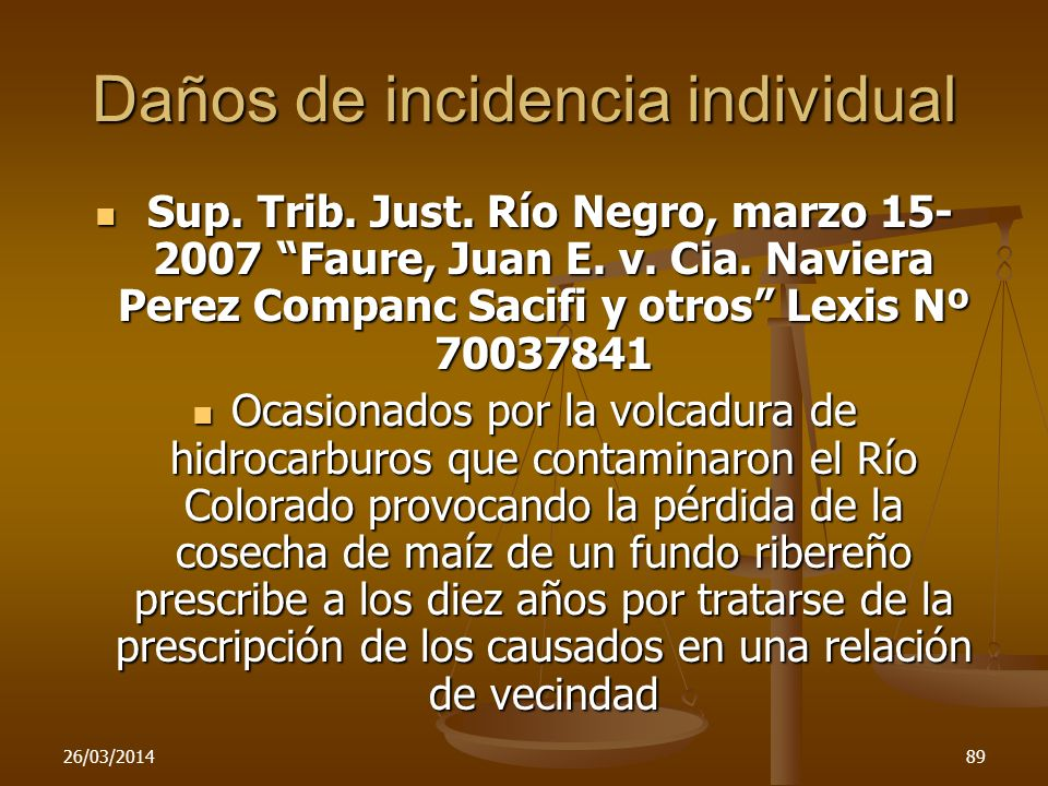 Daños de incidencia individual