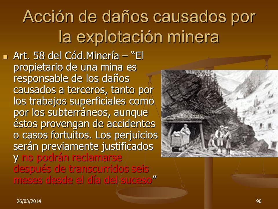 Acción de daños causados por la explotación minera