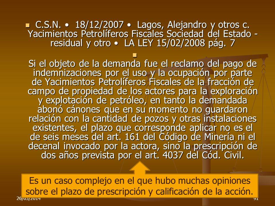 C. S. N. • 18/12/2007 • Lagos, Alejandro y otros c