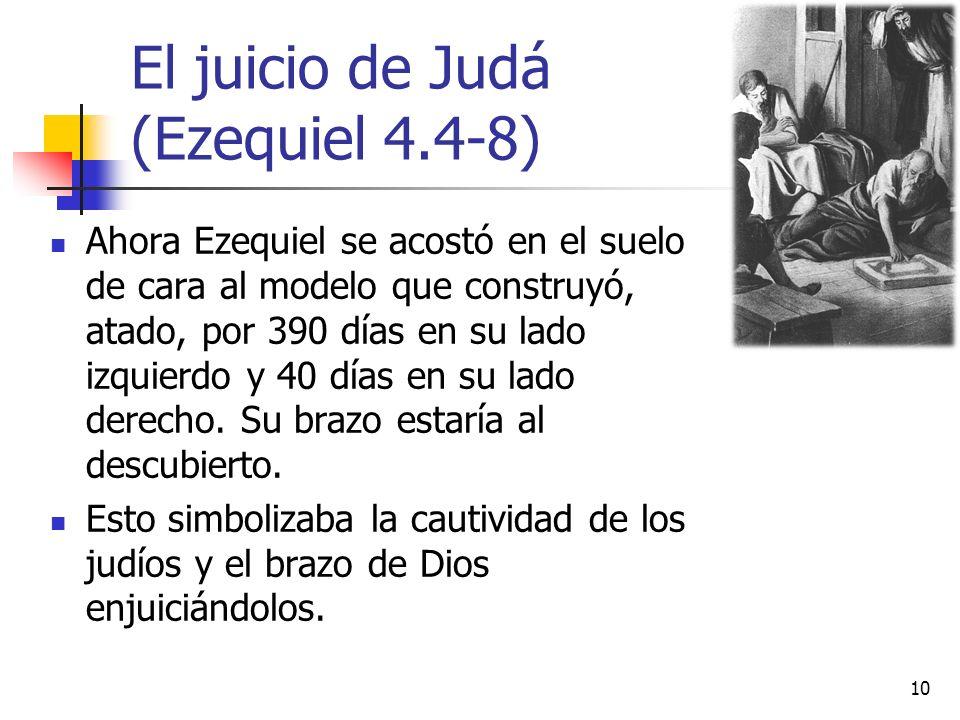 El juicio de Judá (Ezequiel 4.4-8)
