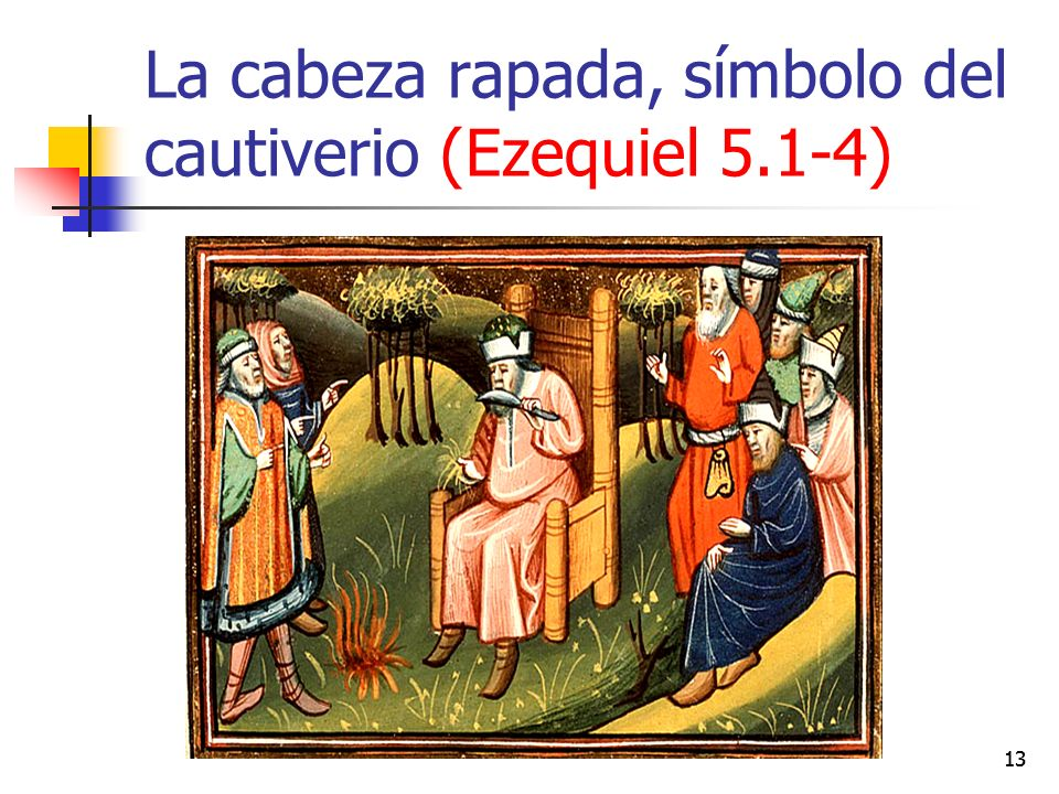 La cabeza rapada, símbolo del cautiverio (Ezequiel 5.1-4)