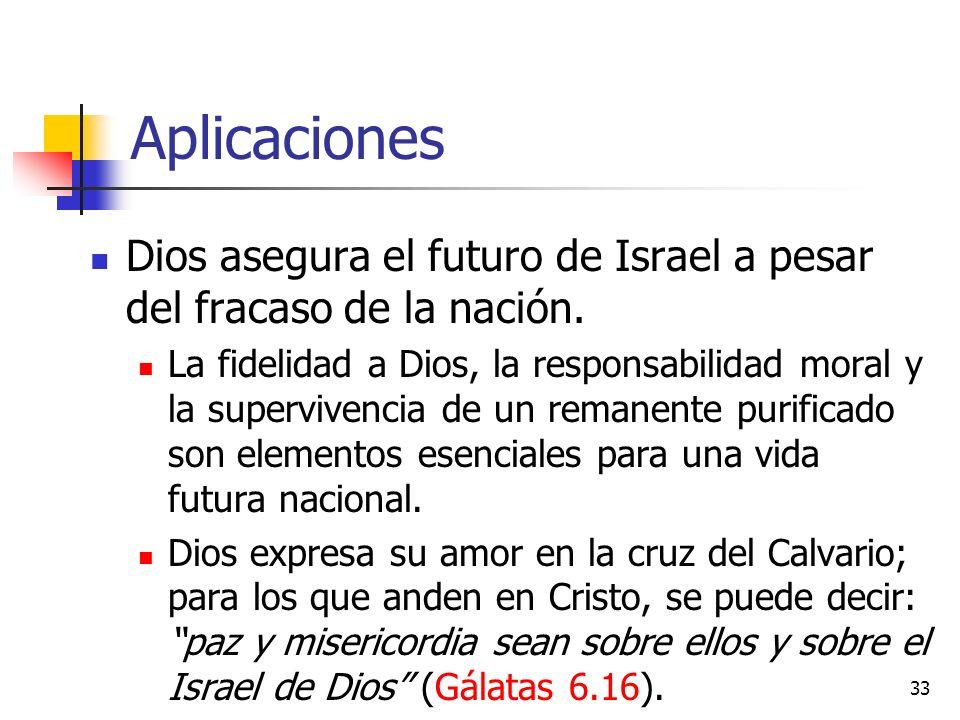 Aplicaciones Dios asegura el futuro de Israel a pesar del fracaso de la nación.