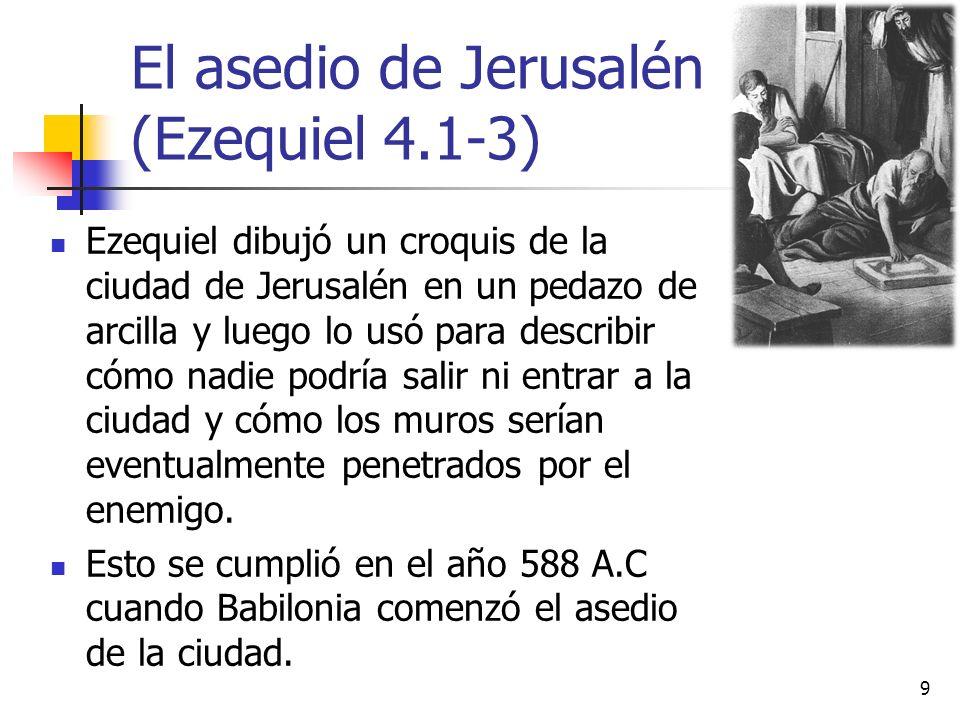 El asedio de Jerusalén (Ezequiel 4.1-3)
