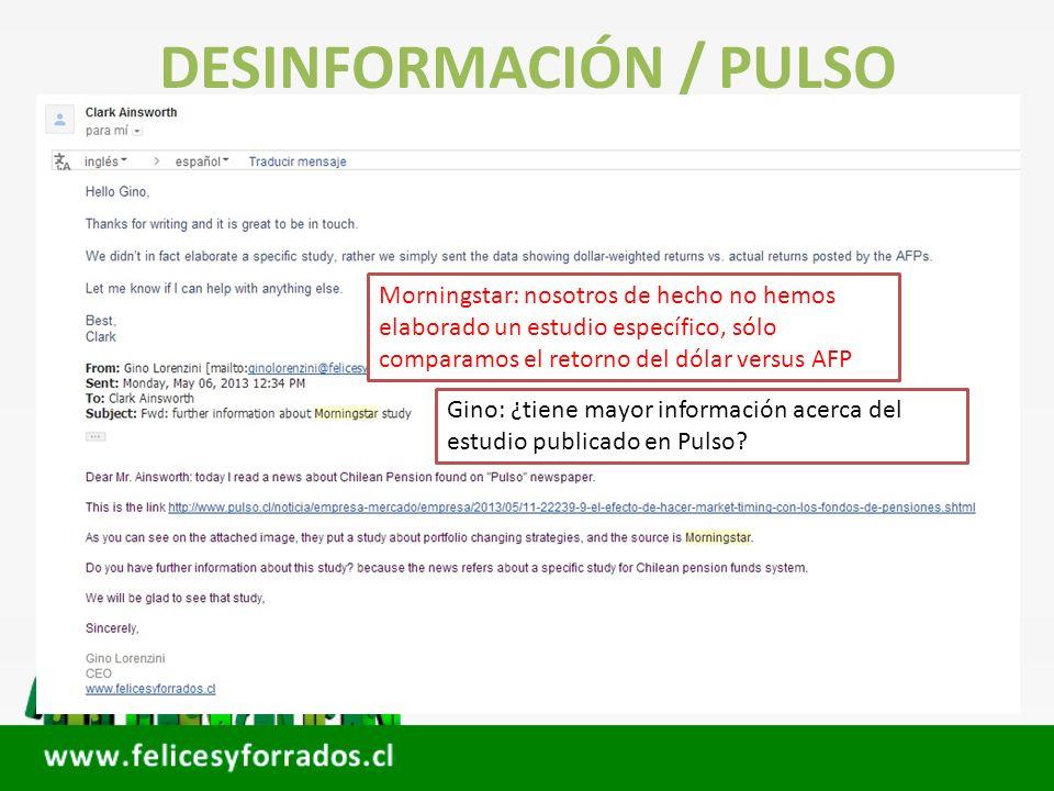 DESINFORMACIÓN / PULSO