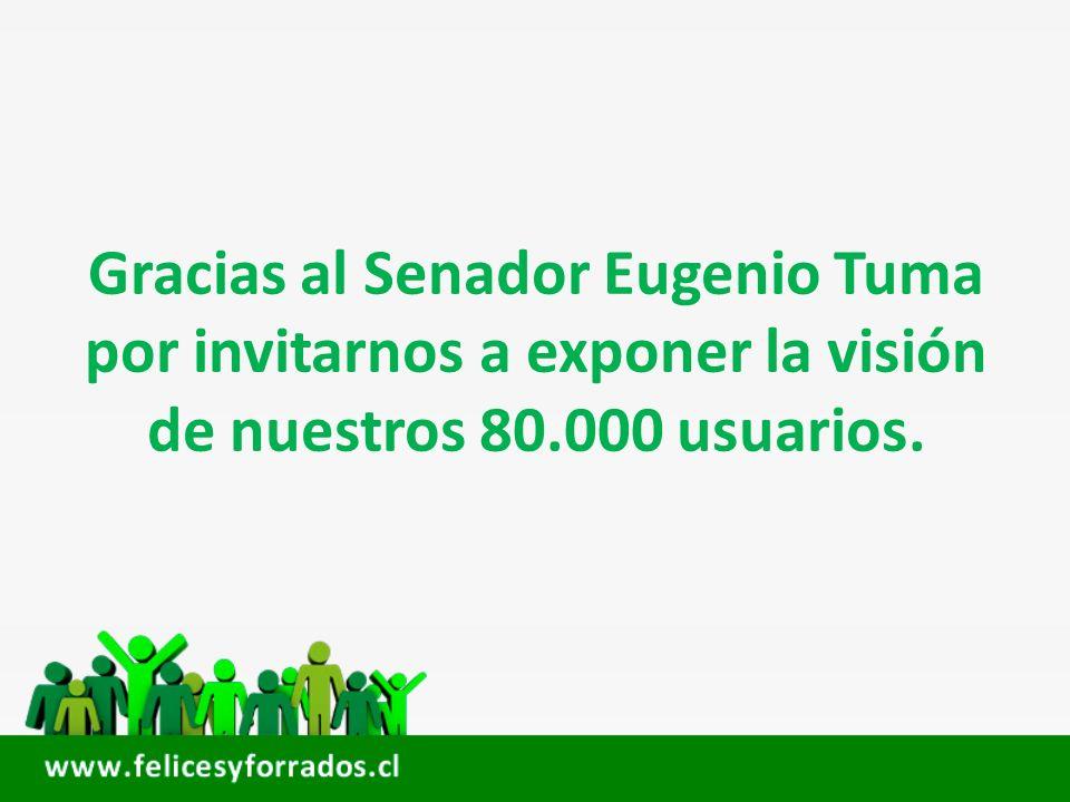 Gracias al Senador Eugenio Tuma por invitarnos a exponer la visión de nuestros 80.000 usuarios.