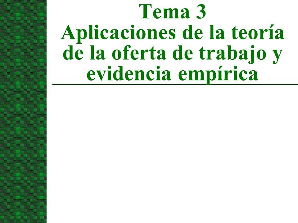 3/24/2017 Tema 3 Aplicaciones de la teoría de la oferta de trabajo y evidencia empírica