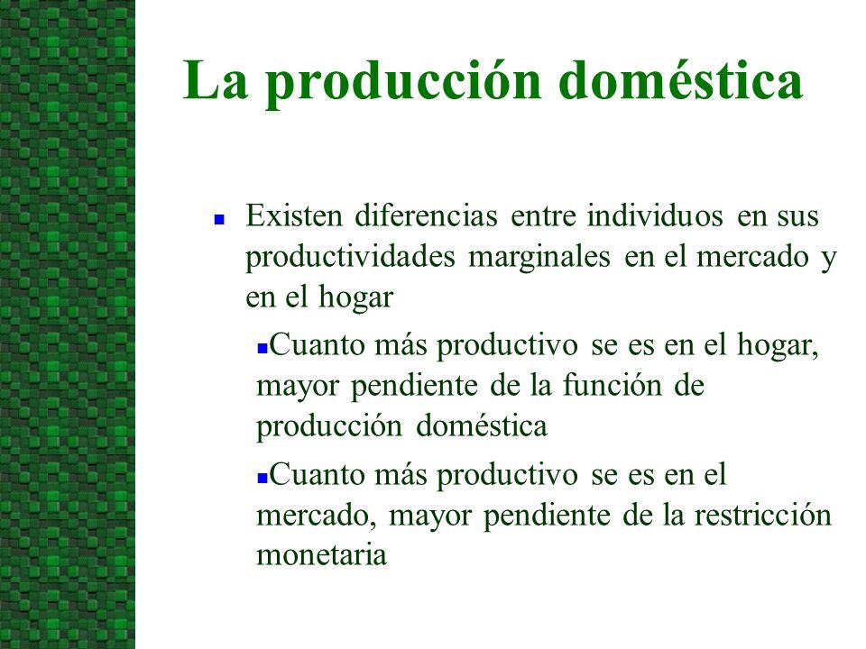 La producción doméstica