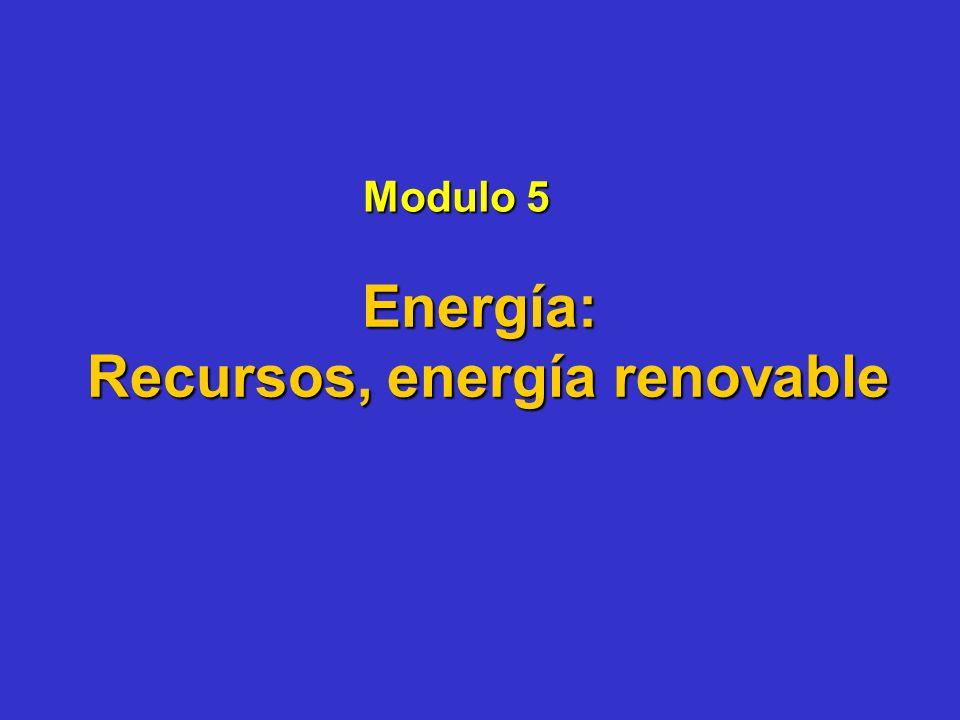 Recursos, energía renovable