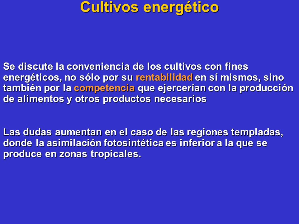 Cultivos energético