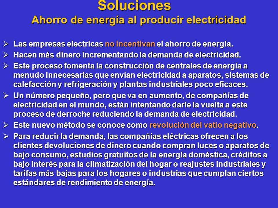 Ahorro de energía al producir electricidad