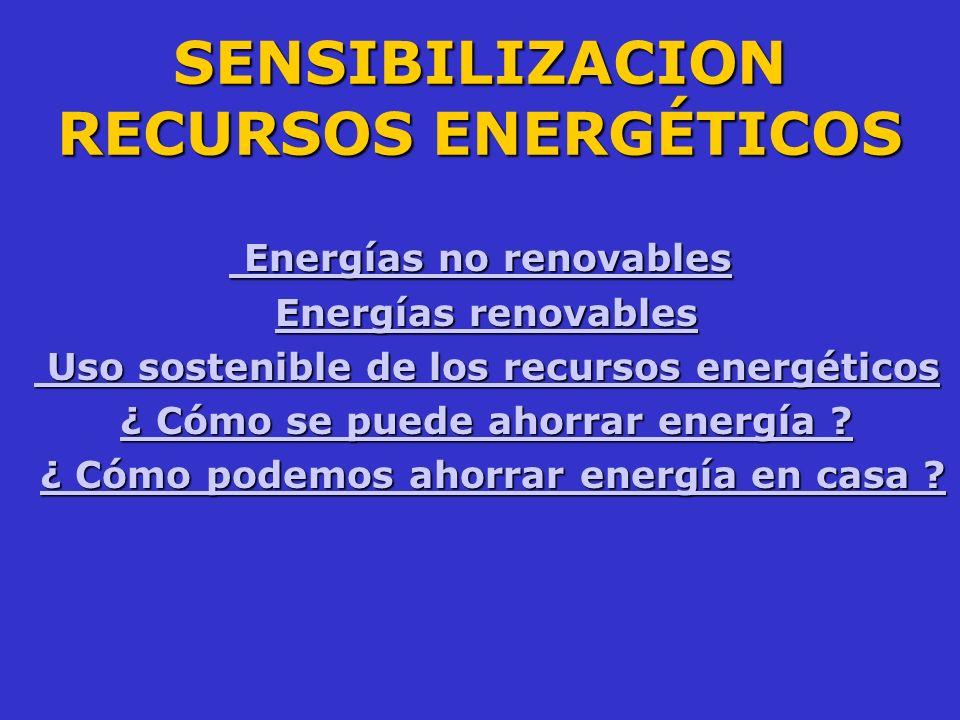 SENSIBILIZACION RECURSOS ENERGÉTICOS