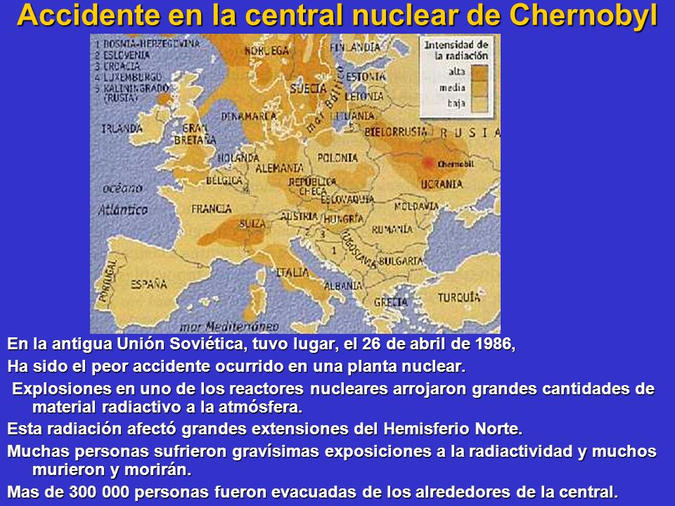 Accidente en la central nuclear de Chernobyl
