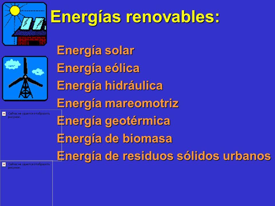 Energías renovables: Energía eólica Energía hidráulica