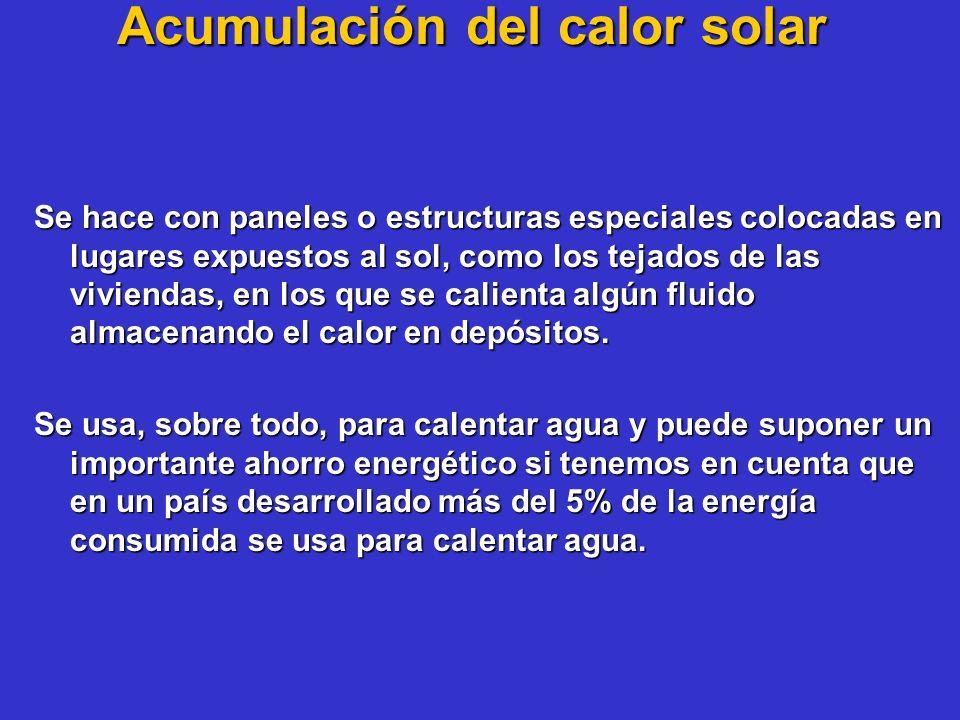 Acumulación del calor solar