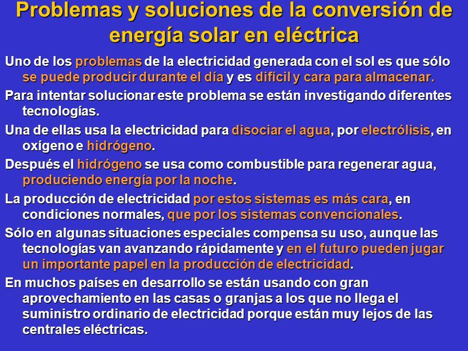 Problemas y soluciones de la conversión de energía solar en eléctrica