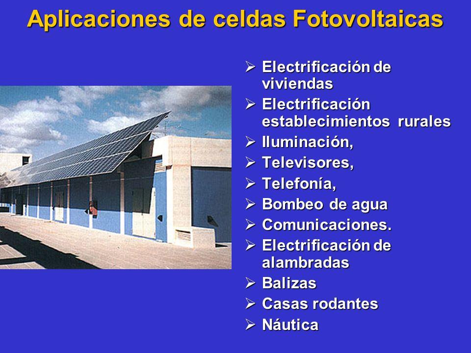 Aplicaciones de celdas Fotovoltaicas