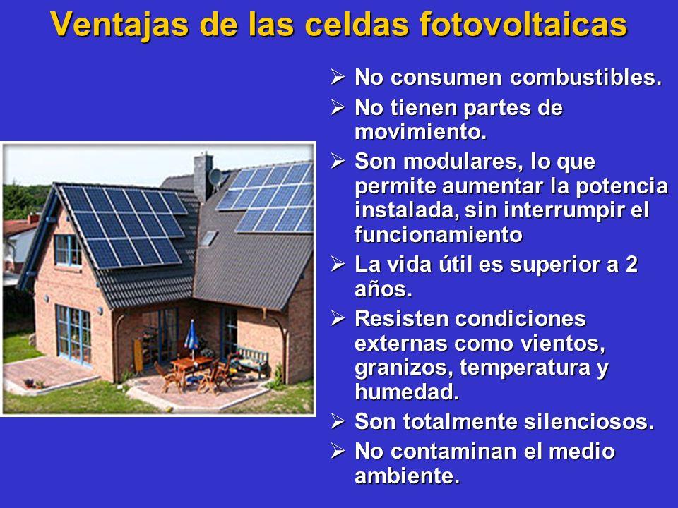 Ventajas de las celdas fotovoltaicas