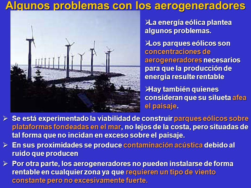 Algunos problemas con los aerogeneradores