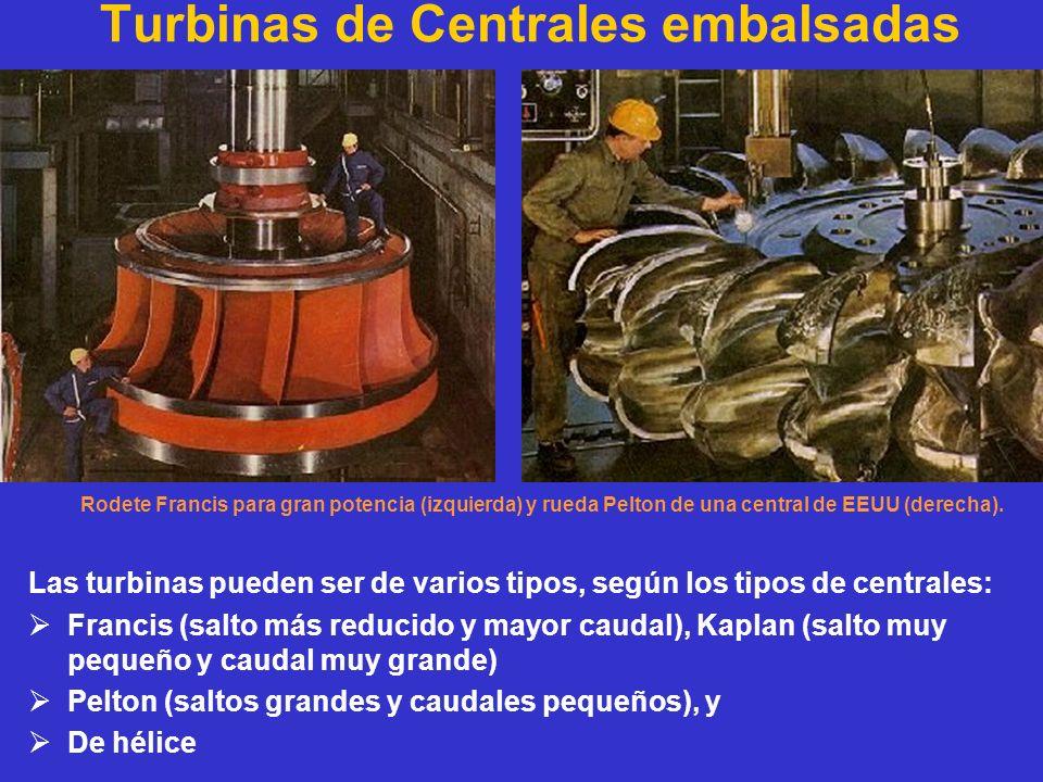 Turbinas de Centrales embalsadas