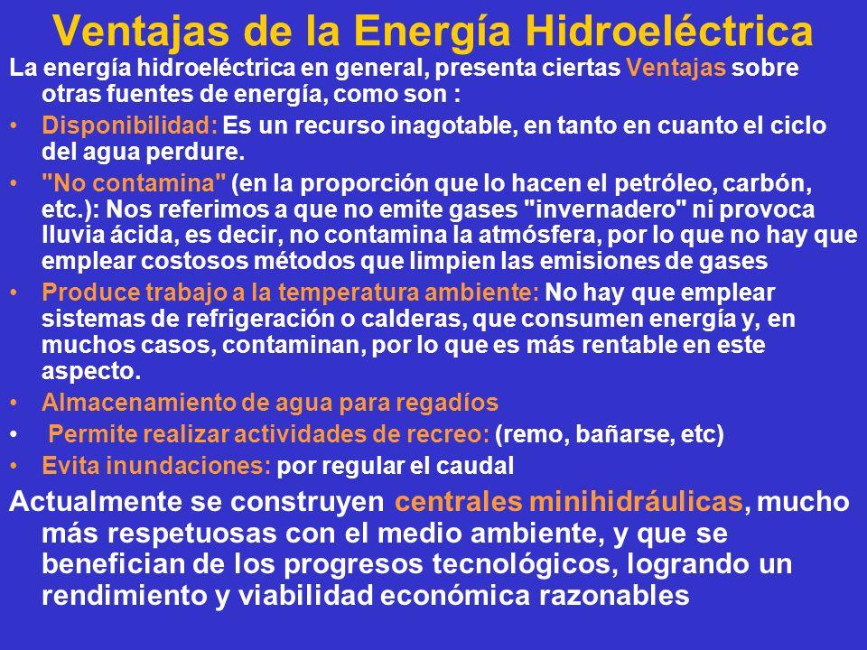 Ventajas de la Energía Hidroeléctrica