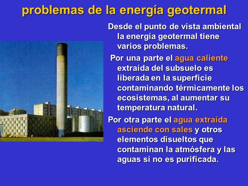 problemas de la energía geotermal