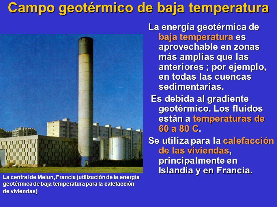 Campo geotérmico de baja temperatura