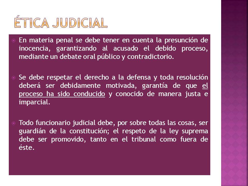 Ética judicial