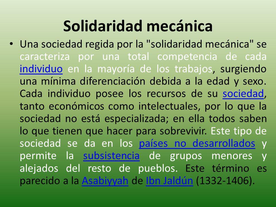 Solidaridad mecánica