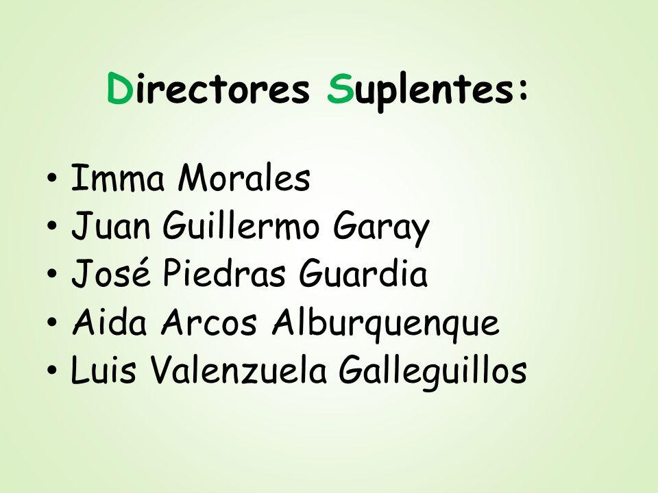 Directores Suplentes: