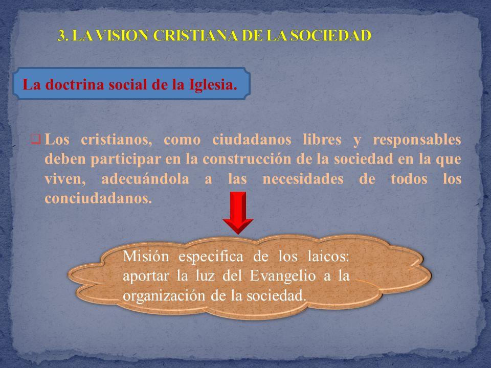 3. LA VISION CRISTIANA DE LA SOCIEDAD