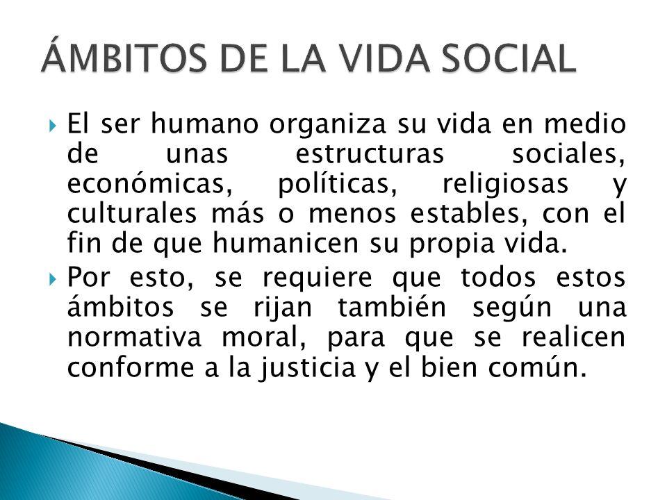 ÁMBITOS DE LA VIDA SOCIAL