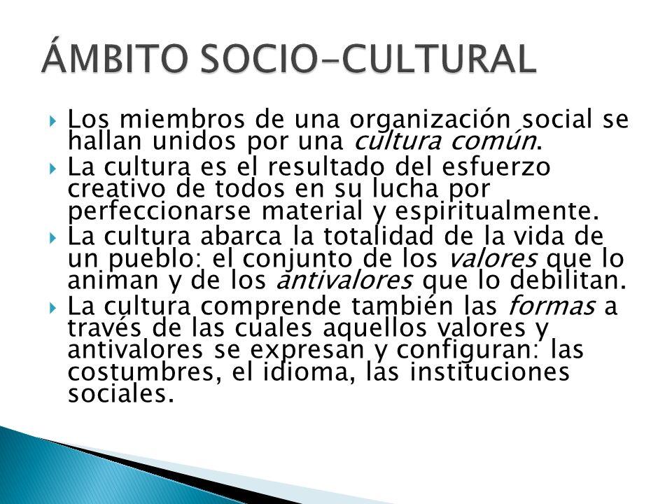 ÁMBITO SOCIO-CULTURAL