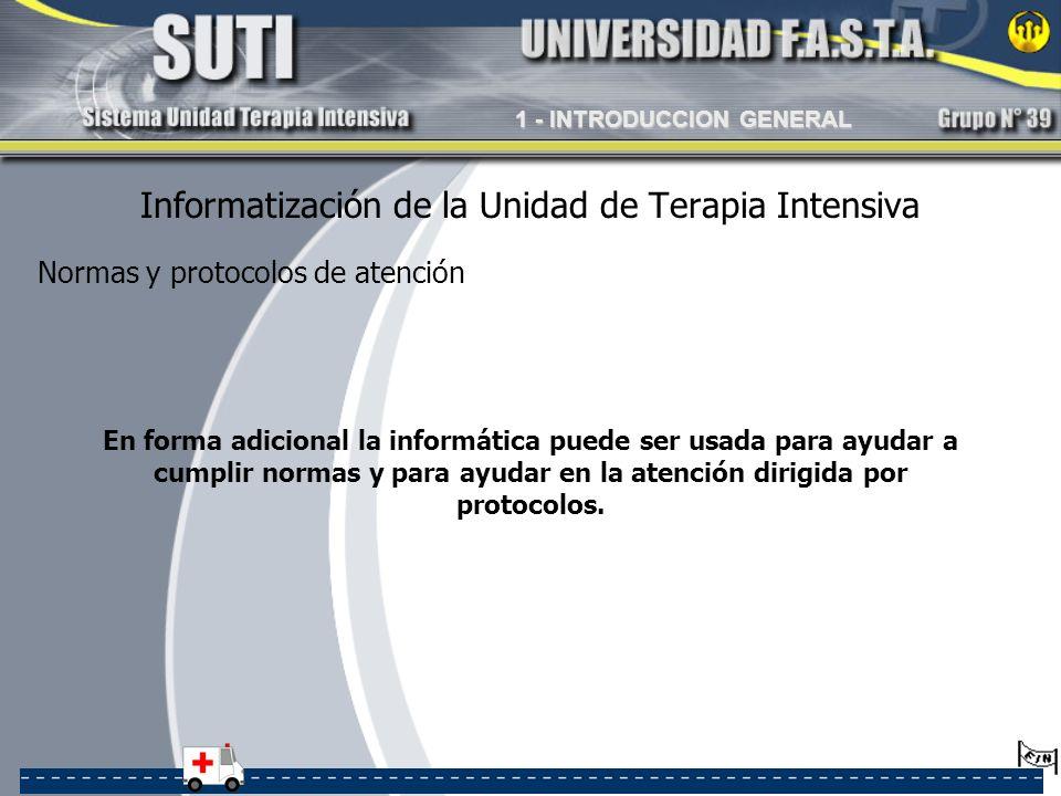 Informatización de la Unidad de Terapia Intensiva