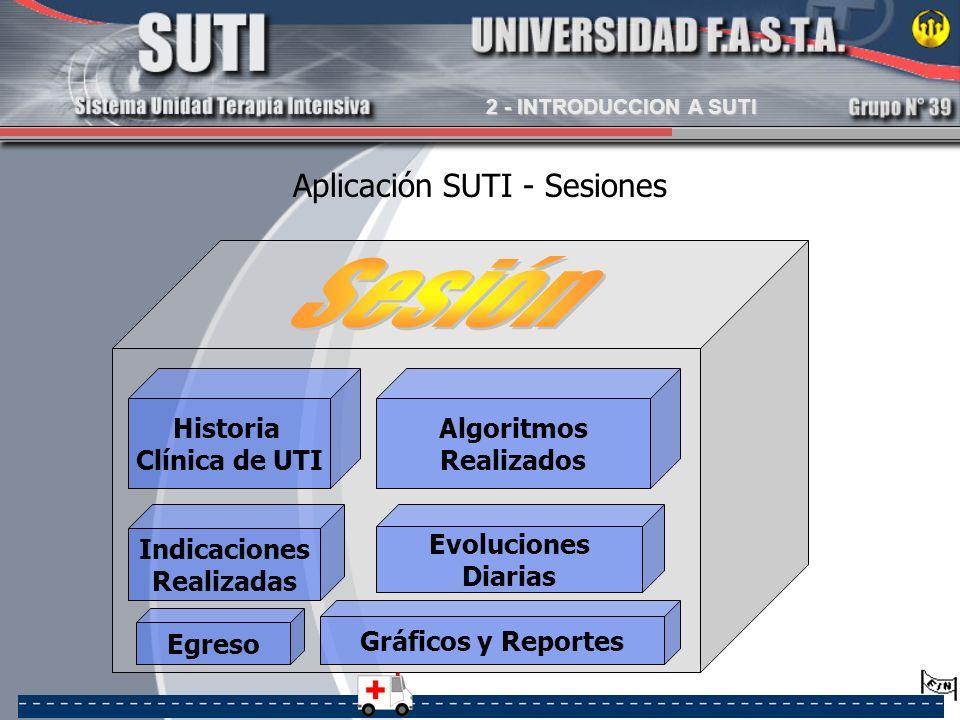 Aplicación SUTI - Sesiones
