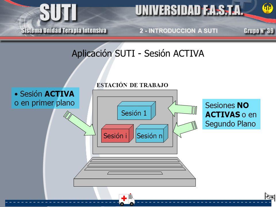 Aplicación SUTI - Sesión ACTIVA