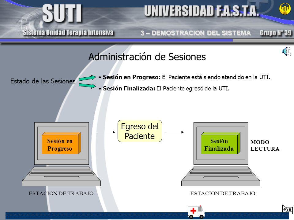 Administración de Sesiones
