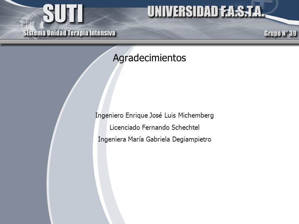 Agradecimientos Ingeniero Enrique José Luis Michemberg