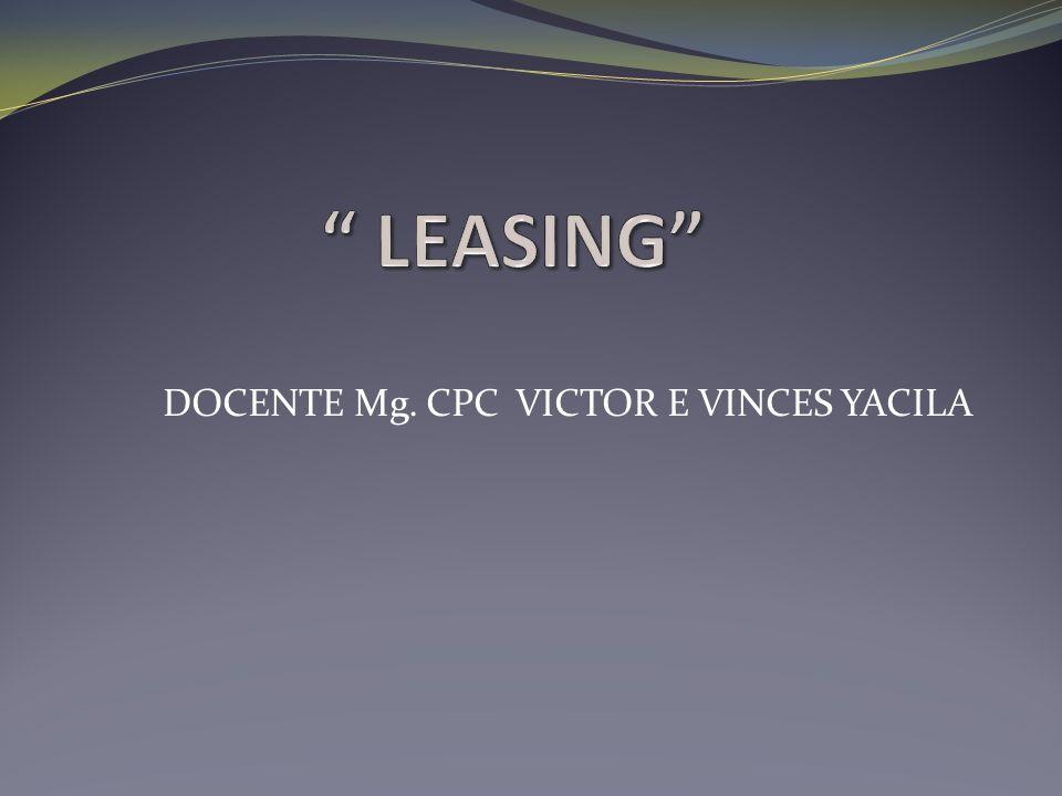 DOCENTE Mg. CPC VICTOR E VINCES YACILA