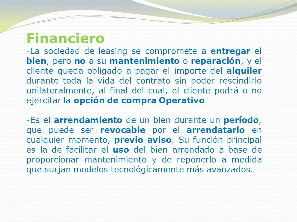 Financiero
