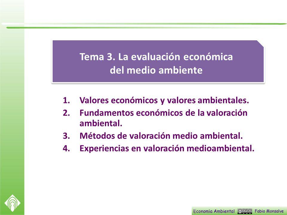 Tema 3. La evaluación económica