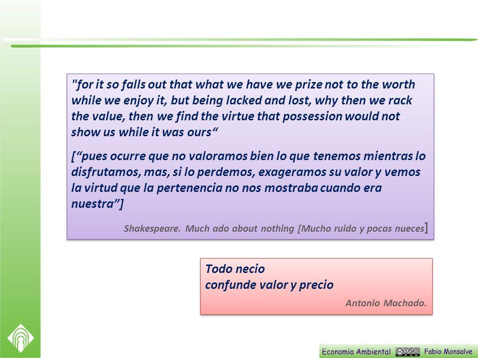 confunde valor y precio