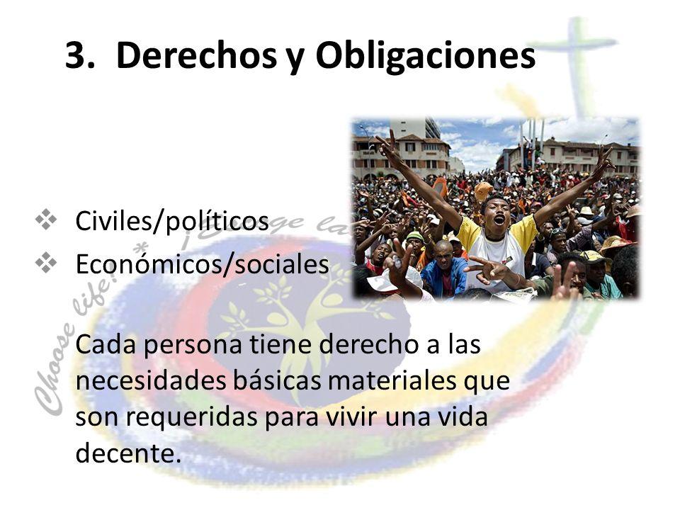 3. Derechos y Obligaciones